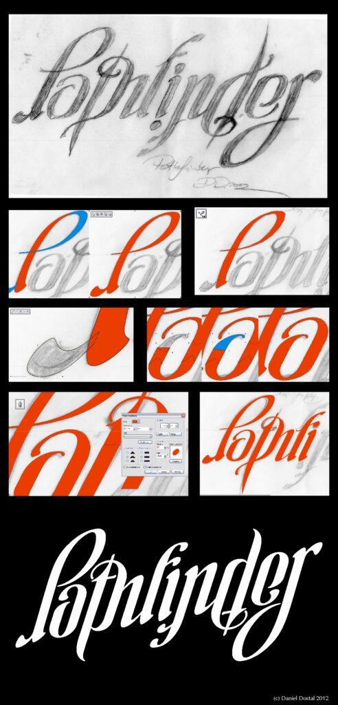 Make ambigram pathfinder