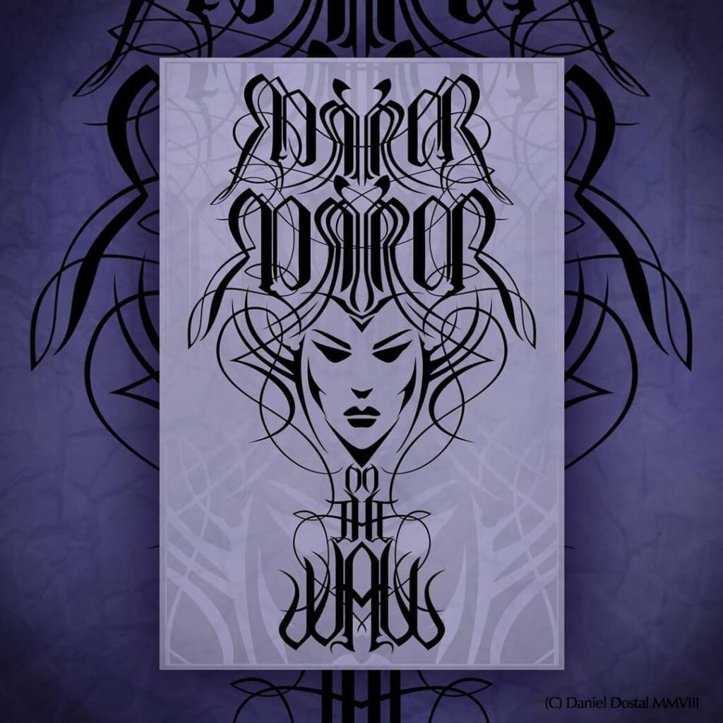 Mirror mirror on the wall ambigram